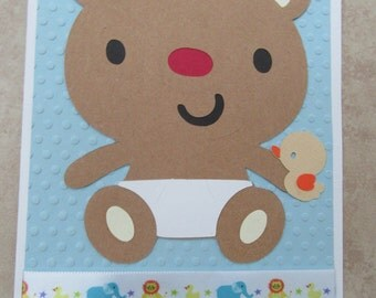 FOR BABY Teddy Bear Paper Card