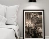 Paris bedroom decor/chandelier of the Opera Garnier photography/Paris Photography/ Shabby chic chandelier print/ Large wall art, Paris 8x10