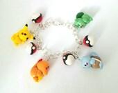 Pokemon Inspired Charm Bracelet