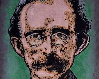 Tom Clarke. Irish Revolutionary. Executed 1916. by Jim FitzPatrick. Easter Rising, Easter1916, 1916 Rising, Irish, Ireland
