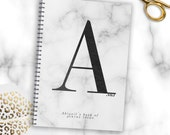 Marble notebook, Marble notepad, Personalised notebook, Fashion notebook