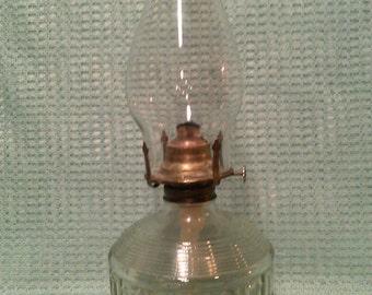 Vintage Large Antique oil Lamp