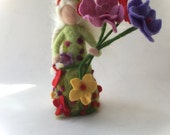 Summer Fairy.Waldorf. Hand-felted. Needle felted .Waldorf