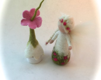Tooth Fairy.Hand-felted. Wet  felted. Waldorf. Felted.Feted box