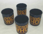 Vintage Doctor Who Ceramic Mugs, Rare, Set of 4, 1986, BBC Entertainment - Made in England