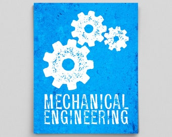 Mechanical Engineer Print Engineering Gears Engineer Gifts Teacher Gifts for Teachers Science Art Office Decor Gifts for Him Gifts for Her