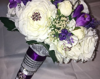 Bridal Bouquet & Grooms Boutineer Package