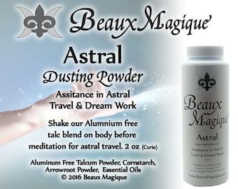 Astral ~ Dusting Powder - sachet powder, astral projection, sachet powder, rootwork, conjure, witchcraft, occult supplies, witchcraft powder