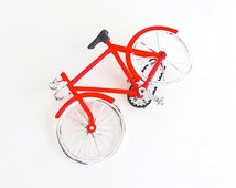Red Bicycle Cake Topper - Baking Candy Making Party Supplies