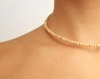 Beaded Wooden Necklace (Choker)