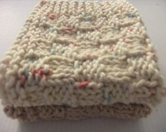 Earth Tone Dishcloths/Washcloths/Set of 2 Dishcloths/Fall Dishcloths