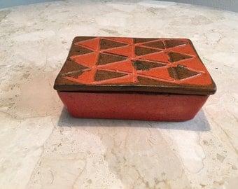 Mid Century Italian Pottery box