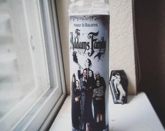 Addams Family Prayer Candle