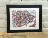 SALE! Abstract Map Print of Cambridge