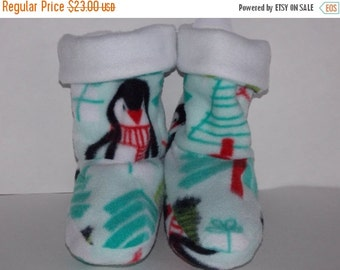 On Sale Penquin Fabric Slippers - Child