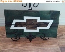 Chevrolet Truck Man Cave Rustic Pallet Wood Sign with Chevy Bowtie handmade to order Custom Order