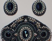 Midnight Delight brooch and earrings set