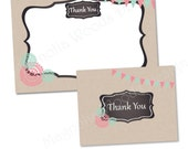 Chalkboard and Burlap Thank You Card, Chalkboard Thank You, Burlap Thank You Card, Business Thank You, Birthday Thank You, Shower Thank You