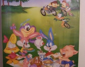 "TINY TOON Wackyland Poster 1990 Vintage 35"" x 23"" New in original Shrinkwrap"
