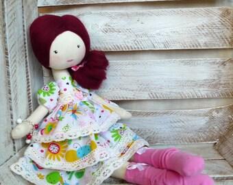 Cloth Rag Doll Handmade Sweet Doll Gift For Girl Balerina Doll