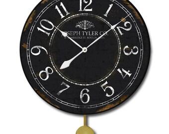Black & White Pendulum Clock