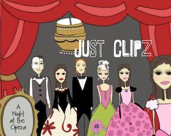 Opera Clip Art - Theater Clip Art - Musical Clip Art