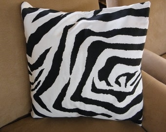 Big Sale !!! Zebra Black and White Color Pillow Cover 20x20