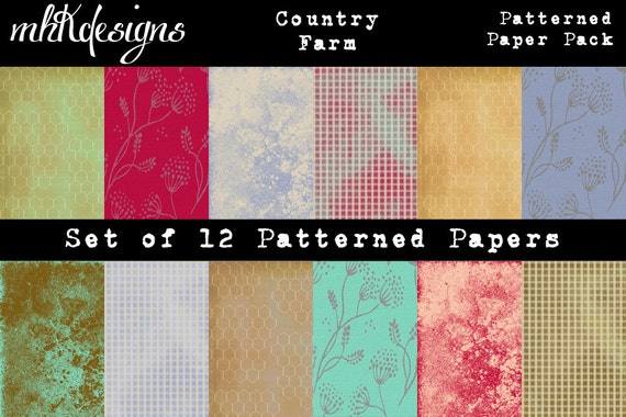 Country Farm Digital Paper Pack