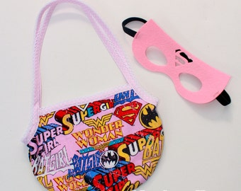 super girl bag with mask