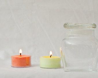 Custom Soy Wax Candle in Small Honey Pot Jar - (142g)