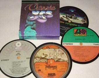 YES vinyl record coasters record album coasters