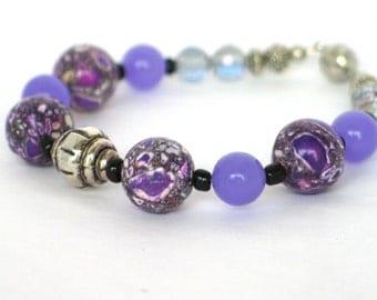 Purple Bracelet, Lavender Bracelet, Crystal Bracelet, Bracelet, Mothers Day, Easter, Gift, Summer Bracelet