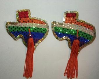 Pasties, Texas, Nipple Tassels, Pride, Burlesque, Pasties, Gay Pride, Custom Pasties, Made When You Order