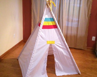 Kids Play Teepee With accent color bands
