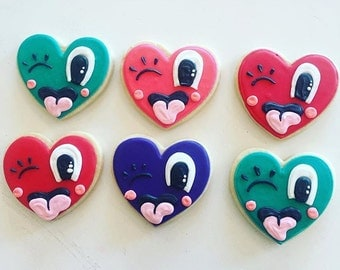 Funny Face Heart cookies