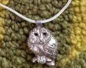 Solid Sterling Silver  Baby OWL Necklace