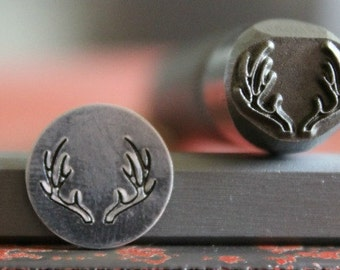 Antler Metal Design Stamp- U.S.A Made- Three Sizes To Choose From- Advantage Tool- Manufactured For Use On Harder Metals- SGAD-56