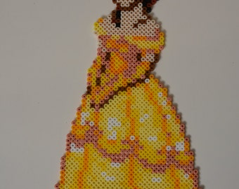Belle....Perler Bead Magnet