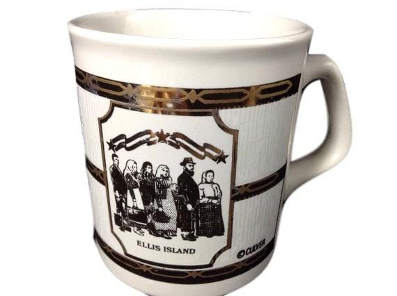 Vintage Culver Mug Ellis Island Coffee Mug