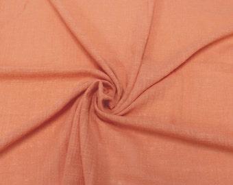 Peach Papaya N Slub Cotton Gauze Fabric - 1 Yard Style 640-PEACHPAPAYAN