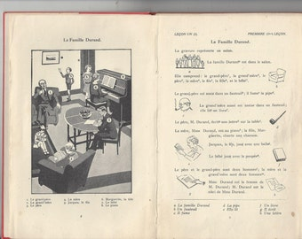 Liguaphone language course for french cours de conversation francais liguaphone institute 1920's hardcover