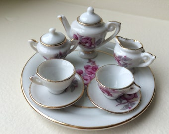 Ceramic Shackman Rose Tea Set #19