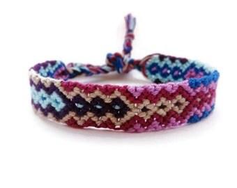 Friendship Bracelet, Macrame, Woven Bracelet, Wristband, Knotted Bracelet - Aztec arrow