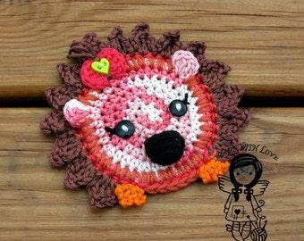 Crochet PATTERN, Applique Hedgehog, Patch Hedgehog, Application Hedgehog, DIY Pattern 166