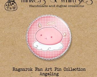 Ragnarok Angeling Fan Art PIN BACK Button