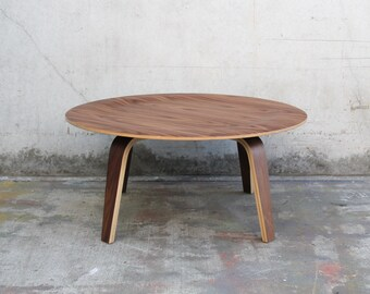 Eames CTW Molded Plywood Walnut Coffee Table Repro Mid Century Modern