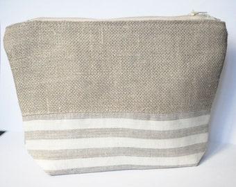 Striped Clutch Purse Stripes Cosmetic Bag Stripe Clutch Handbag Gift for Womens Bag Zippered Clutch Christmas Gift Striped Clutch Purse