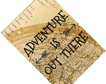 Passport Cover Case Holder -- Adventure is out there 3