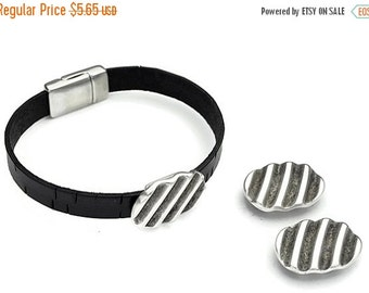 30% OFF 10MM WAVES Sldr - Sterling Silver Plated - Qty. 2