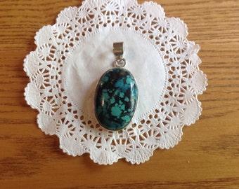 Vintage genuine turquoise pendant